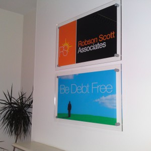 Wall Mounted Perspex Signs